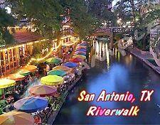 Texas - SAN ANTONIO RIVERWALK - Travel Souvenir Flexible Fridge Magnet