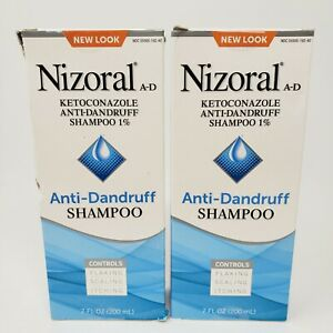 2 Bottles Nizoral A D Anti Dandruff Shampoo 7 oz Exp 2022 New