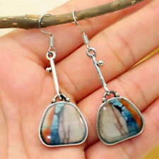 Fashion Tibetan Bag/Lock Vintage Turquoise Ear Hook Drop Dangle Earrings Jewelry