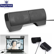 02ec70460aa USB Clip-On Computer Sound Bar Stereo Laptop Desktop PC Notebook Mini  Speaker UK