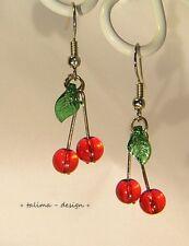 Ohrringe Kirschen klein  Kirsche Cherry rockabilly kawaii gothic burlesque