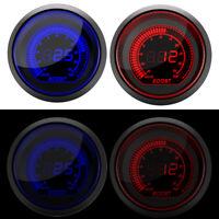 "2"" 52mm Digital Gauge Boost Vacuum Turbo Meter Kit Blue/Red Smoke LED Psi Stock"