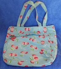 "Aero Womens Pouch Bag Purse ? Cherry Cherries 13"" x 11"" 8"" Straps Light Blue"