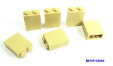 LEGO / 6 Piezas beige 2x1x2 Bloque de construcción base pared Columna / Postes