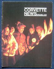 Prospekt brochure Corvette News April / May 1976 (USA)