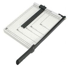 "NEW Paper Cutter Guillotine Style 12"" Cut Length X 10"" Inch Metal Base Trimmer"