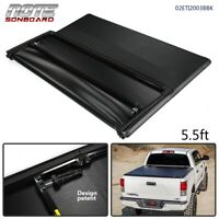 For 2007-2013 Toyota Tundra 5.5ft Extra Short Bed Lock Tri-Fold Tonneau Cover