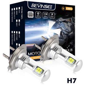 LED Headlight Lights Kit For BMW S1000RR 2009-2015 High Low Beam Kit 2x H7 Bulbs