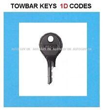 LAND ROVER TOWBAR KEY CUT  ( 1D01 TO 1D57 ) CODES DETACHABLE TOWBAR LOCK KEYS