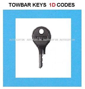 LAND ROVER TOWBAR KEY  ( 1D01 TO 1D57 ) CODES DETACHABLE TOWBAR LOCK KEYS CUT