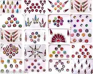 Indian Bindi  20 Assorted Packs  Bindiya  Kumkum  Forehead Art