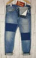 Edwin 14oz Japanese Cloth Rainbow Selvedge Blue Jeans Slim Leg W28 L33 £210 New