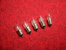 5 LAMPADE scala 6,3v 0,3a e10 * scale lampade * scale Lampada * Tubular lamps *