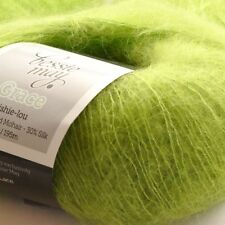 Super Kid Mohair & Silk Hand Knit Lace Wool Yarn ~ Bessie May GRACE, in Green