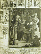 A.B. Frost ANTIQUE FURNITURE DEALER Spinning Wheel BARGAINS 1878 Print Matted