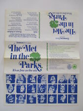 THE MET IN THE PARKS - CENTRAL PARK - ROMEO and JULIETTE / AIDA 1986 PROGRAM