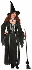 Women's Plus Size Black Witch Costume Gothic Hallowen