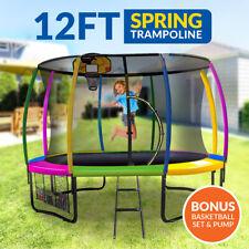 10ft Trampoline Ladder Spring Net Safety Pad Cover Round Basketball Set