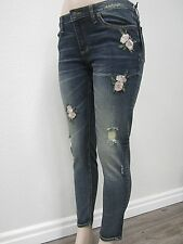 NWT Miss Me - Womens Mid-Rise Ankle Skinny Embroidered Jeans M2084AK Size 29X27