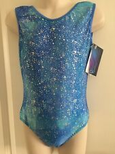 "NEW Galaxy Sparkle Leotard size 26"" age 5-6 by Zodiac Leos"
