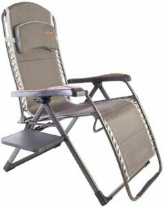 Quest Naples Pro Relax XL Chair with Side Table Patio Garden Motorhome