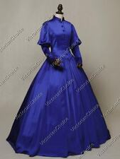 Victorian Gothic Royal Winter Game of Thrones Dress Steampunk Clothing 006 Xl
