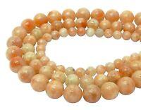 😏 Rosa Mondstein ( natürlicher ) Kugeln 6, 8 & 10 mm Perlen Strang moonstone 😉