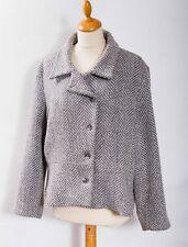 Per Una jacket ladies M&S grey tone chevron stripe wool mix UK 18
