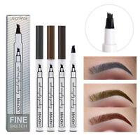 Tattoo Eyebrow Ink Pen Waterproof Sketch Eye Brow 4 Fork Tip Natural Pencil Pen