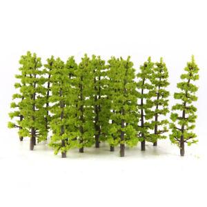 20PCS Plastic Fir Trees Model Train Park Scenery Landscape HO 1:100