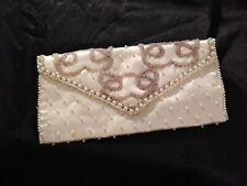 ladies hand beaded clutch purse by Bon Soir