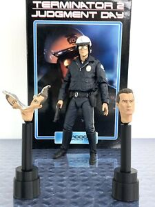 Set Of 2 Custom 3D Printed Stands For NECA Ultimate T-1000 Motorcycle Cop