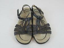 Abeo Women Sandals Ankle Strap Cork Open Toe Strappy Comfort Bio system Size 11