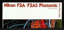 NIKON F2-A & F2-AS RARE VINTAGE LARGE 32 PANEL FOLD OUT FACTORY BROCHURE.