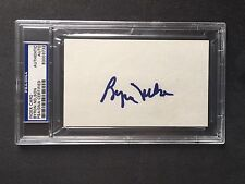 Byron Nelson Rare! golf signed encapsulated 3x5 index card PSA/DNA cert slabbed