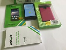 Alcatel Streak Smartphone Cricket Gray Android Phone With Screen Protection FREE