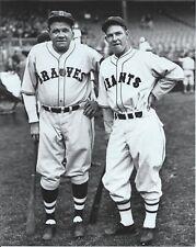 """Babe Ruth & Mel Ott - 8"""" x 10"""" Photo - 1935 - Boston Braves & New York Giants"""
