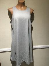 Promesa Womens Gray Sleeveless Tank Dress - Size L