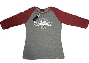 NFL WASHINGTON REDSKINS Woman's  XL 3/4 SLEEVE JERSEY T-SHIRT NEW