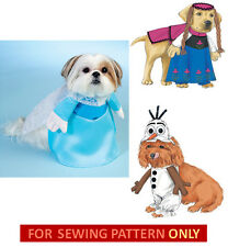 SALE!  SEWING PATTERN! MAKE DOG FROZEN COSTUMES! ELSA~ANNA~OLAF! SMALL~X-LARGE!