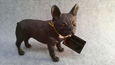 "French Bull Terrier ""Canine Kingdom"" brand cast resin figurine."