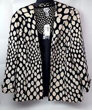 NEW NWT CHICOS Sophisticate Spots Jacket Black Khaki Womens Plus Size 3