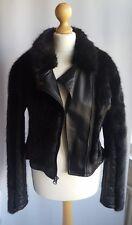 Topshop UK 6 8 10 Jacket Coat Black Fake Fur Evening Small VGC  RRP £70