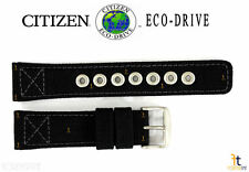 Citizen Eco-Drive AW1410-08E 22mm Black Nylon Watch Band Strap S095905