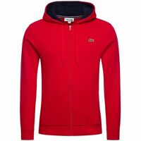 "Lacoste Sport - Men's 2020 Hooded Top - Fleece Hoodie - Red - Small (38"" Chest)"