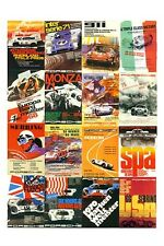 vintage RACE CAR MAG COVERS poster SPORTY COLORFUL STYLISH famed rare 24X36