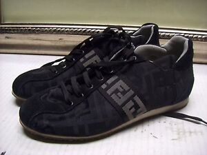 Fendi Zucca Canvas Sneakers Shoes Size 8