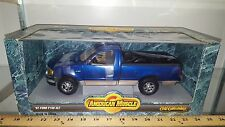 1/18 ERTL AMERICAN MUSCLE 1997 FORD F150 XLT PICKUP MOONLIGHT BLUE SILVER bd