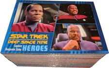 Star Trek DS9 Deep Space Nine Heroes & Villains Complete 100 Card Base Set
