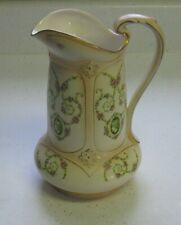"""TURN OF THE CENTURY HAND PAINTED CROWN DEVON PITCHER MARKED 8"""" HIGH ENGLAND"""